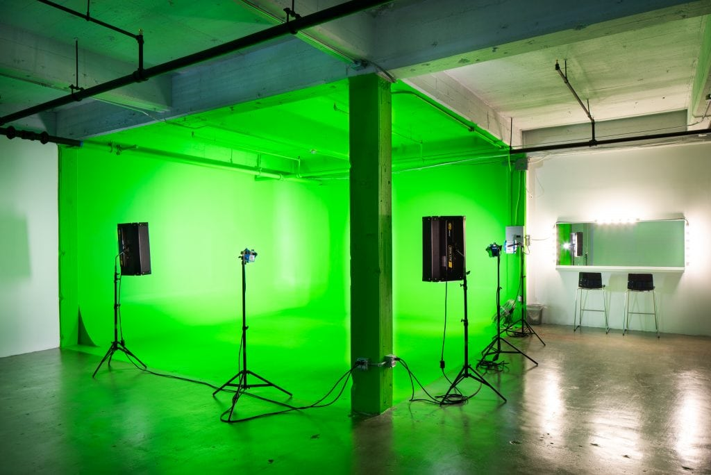 Studio B Green Screen Paint Available for a Fee Upon Request